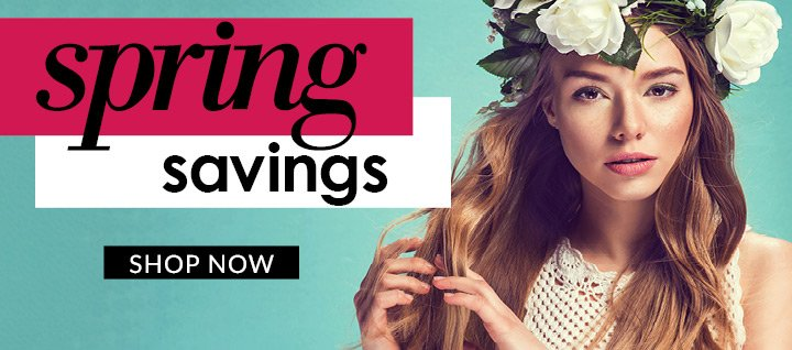 Spring Savings - Shop Now CTA