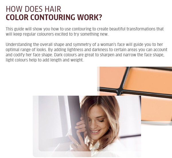 How does hair colour contouring work?