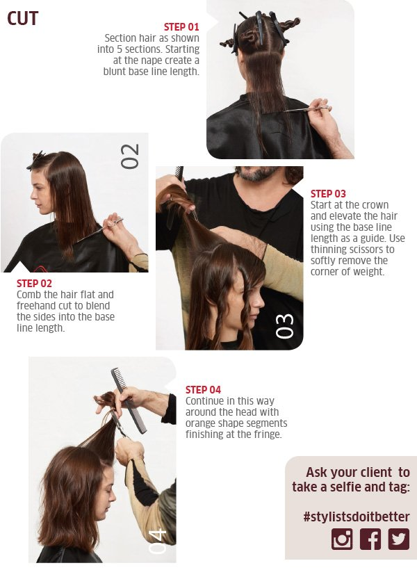 Cut - step by step