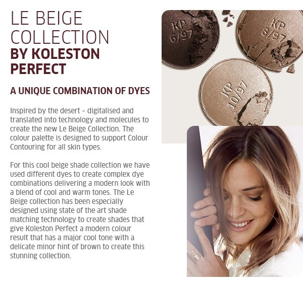 Inspired by the desert - digitalised and translated into technology and molecules to create the new Le Beige collection.
