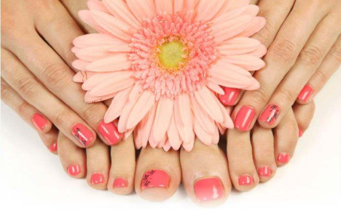 Mothers Day manicure and pedicure