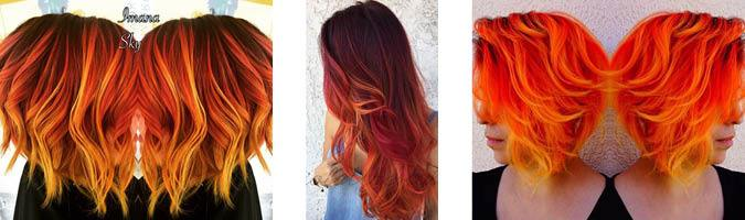 Multi-tonal orange hair