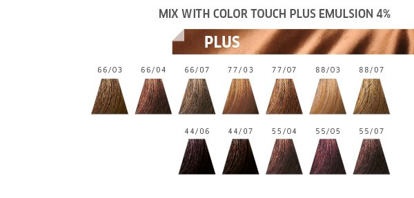 mix with colour touch plus emulsion 4%