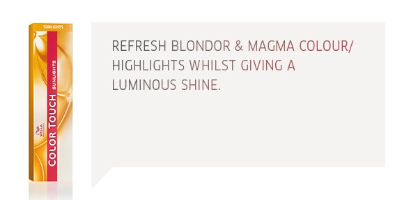 refresh blondor and magma colour/highlights whilst giving a luminous shine