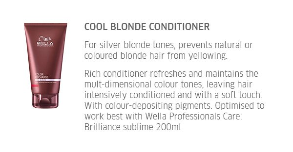 Cool Blonde Conditioner - for silver blonde tones, prevents natural or coloured blonde hair from yellowing