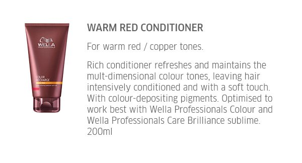 Warm Red Conditioner - for warm red / copper tones