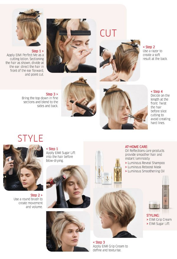 Cut & Style - step by step