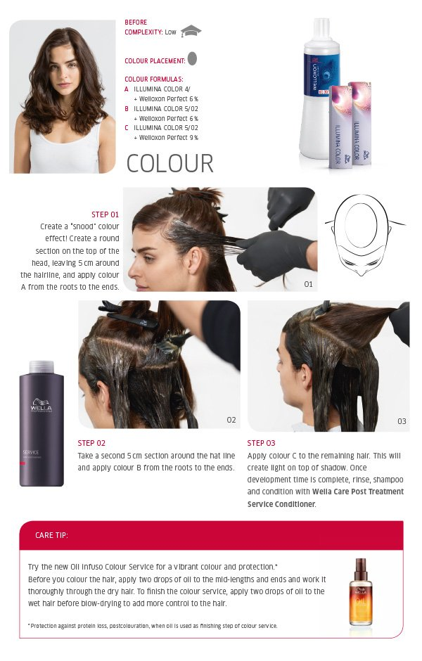 Colour - step by step plus care tip