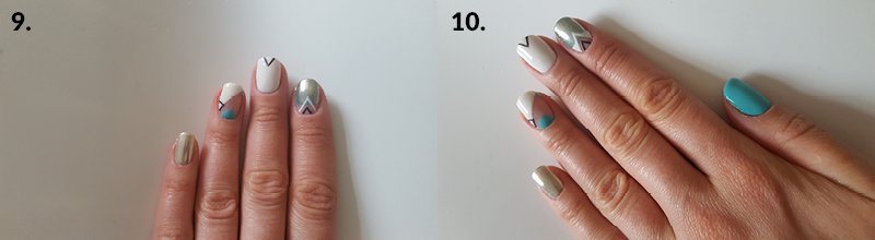 festival nails step 9 and 10