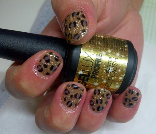 Gellux Nail Art Designs Gellux Leopard Nail Art Design