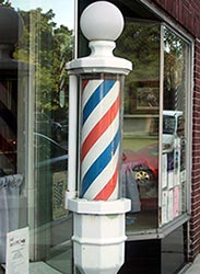 Red White and Blue Barber Pole