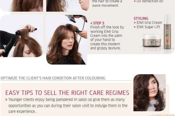 Optimise the clients' hair condition after colouring