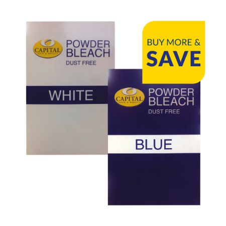 AUG20: Capital Dust Free Bleach White / Blue 400g