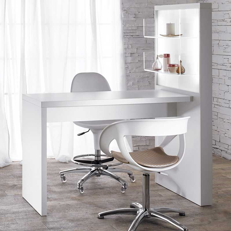 Salon ambience allure white manicure table with product for Manicure table with extractor fan