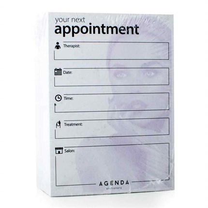 Agenda Nail Appointment Cards x100