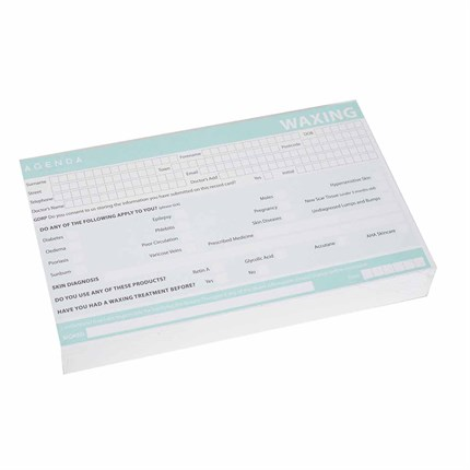 Agenda Waxing Record Cards Pk100