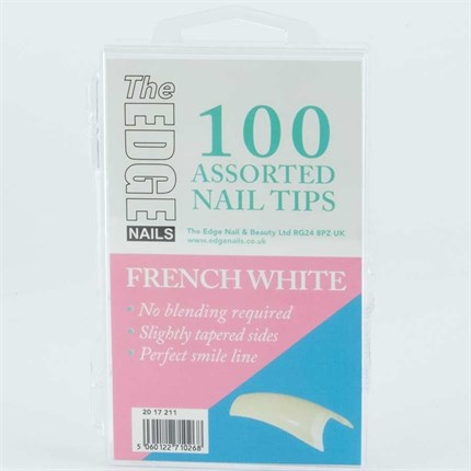 The Edge French White Tips Assorted - 100 Assorted