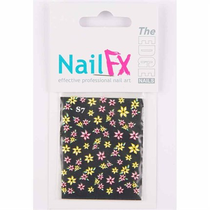 The Edge Transfers - Pink & Yellow Flower