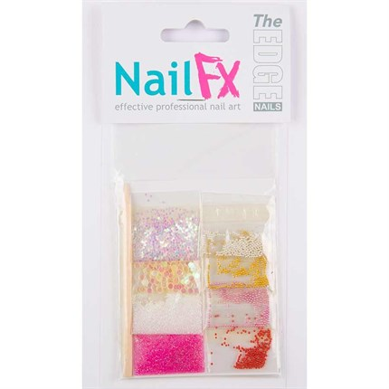The Edge Nail Art Decoration Set B (Pearl/Dust/Flatstones)