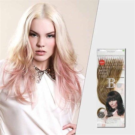 Balmain Fill-in Softring Extensions Human Hair 40cm 50pcs - 1