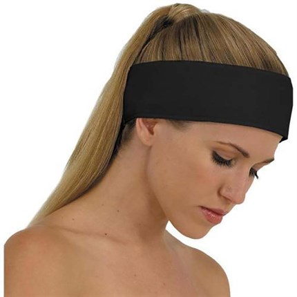 Capital Black Velcro Headband