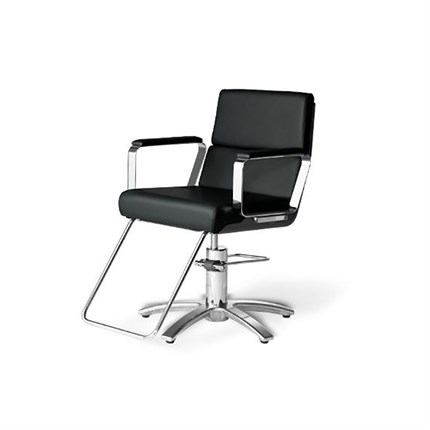 Takara Belmont Adria 2 Styling Chair - Matt Silver Round Base