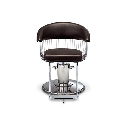 Takara Belmont Harp Barber Chair - SL-85C Round Chrome Base