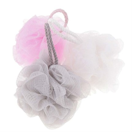 Shower Exfoliating Puff - Assorted Colours (1pcs)