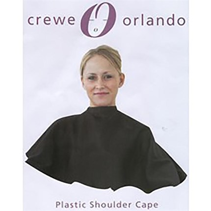 Crewe Orlando Plastic Shoulder Cape Black (Cc1)
