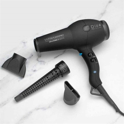 Diva Ultima 5000 PRO Dryer - Black