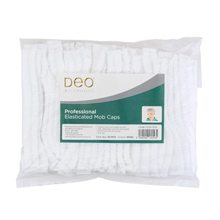 Deo Disposable Mop Cap Pk50 - White