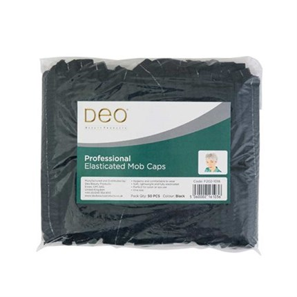 Deo Disposable Mop Cap Pk50 - Black