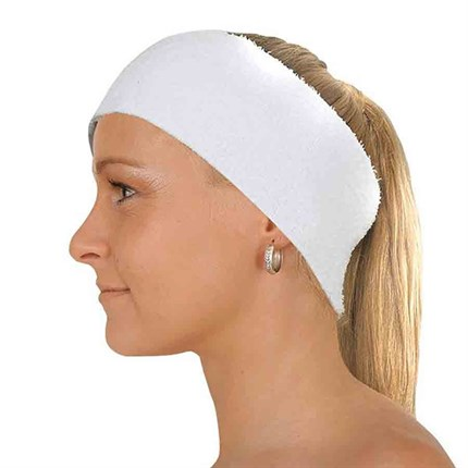 Deo White Single Sided Headband