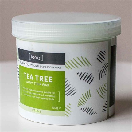 Looks Warm Strip Wax 450g - Tea Tree (Cream)
