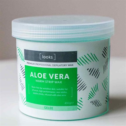 Looks Warm Strip Wax 450g - Aloe Vera (Gelee)