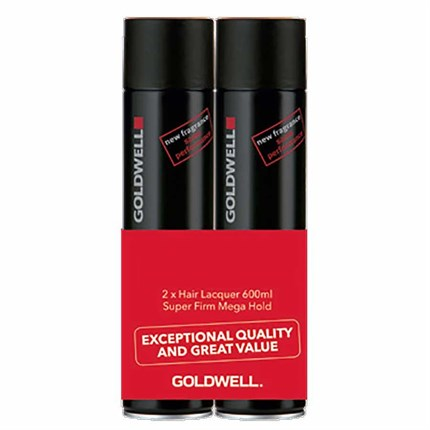 Goldwell Hair Lacquer Duo Pack - Black (2x 600ml)