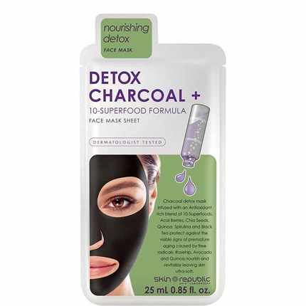 Skin Republic Detox Charcoal & 10-Superfood Face Sheet Mask 25ml