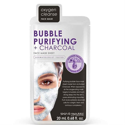 Skin Republic Bubble Purifying & Charcoal Face Sheet Mask