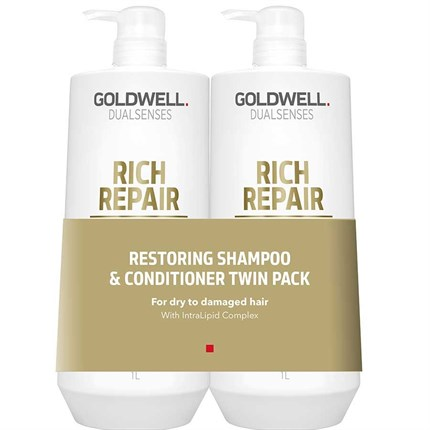 Goldwell Dualsenses Rich Repair Restoring Shampoo & Conditioner 1000ml Twin Pack