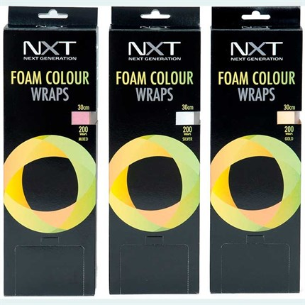NXT Foam Colour Wraps 30cm - Gold (200 sheets)