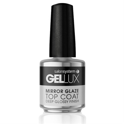Salon System Gellux 15ml Mirror Glaze Top Coat