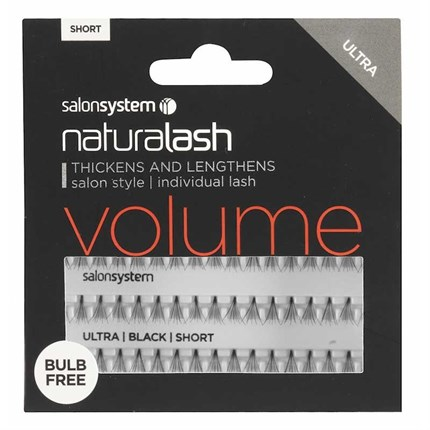 Salon System Naturalash Individual Lashes Ultra Black - Short (Volume)
