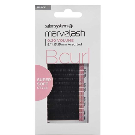 Salon System Marvelash Lash Extensions B Curl 0.20 (Volume) - Assorted (9,11,13, 15mm)