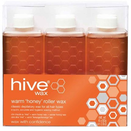 Hive Roller Depilatory Warm Wax Cartridges 6 x 80g