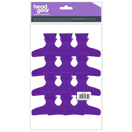 Head-Gear Butterfly Clamps Large Pk12 - Purple