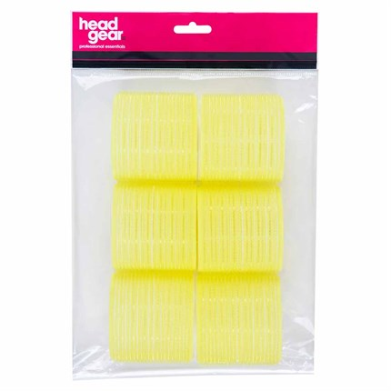 Head-Gear Velcro Roller - Yellow Pk6 (66mm)