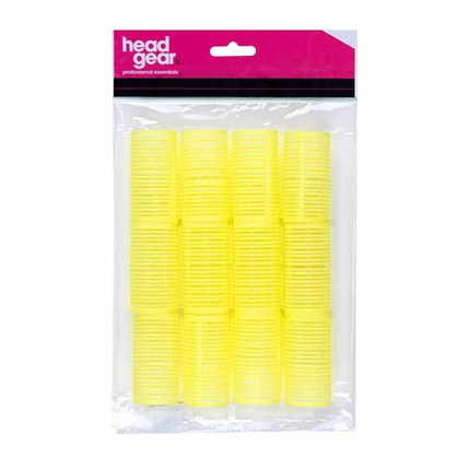 Head-Gear Velcro Rollers - Yellow Pk12 (32mm)