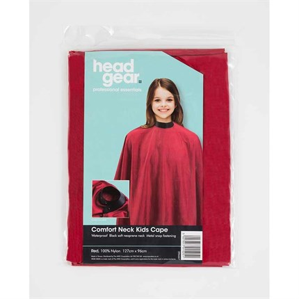 Headgear Kids Cape with Comfort Neck - Red