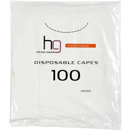 Head-Gear Disposable Shoulder Capes Pk100 - Clear