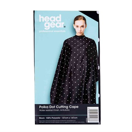 Head-Gear Polka Dot Cutting Cape - Grey